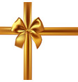 realistic gold bow and ribbon isolated on white vector image vector image