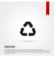 Recycle Icon Flat design style Template for de vector image vector image
