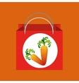 red bag buying harvest carrot vegetable