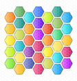 rounded Hexagon abstract background vector image vector image