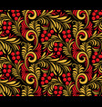 seamless background of traditional russian folk vector image vector image