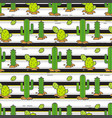 seamless pattern cacti in the desert vector image