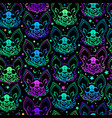 seamless pattern multicolored bright bats vector image vector image