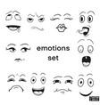 set emotions vector image vector image