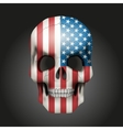 Skull with USA flag vector image vector image
