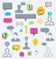 Speech bubbles and communication vector image vector image