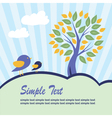 Stylized tree and birds vector image
