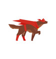 superhero dog character super dog dressed in red vector image vector image