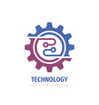 technology gear concept business logo template vector image vector image