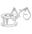 transfer caliper used remove the instrument from vector image vector image