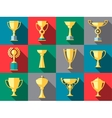 Trophy icons Winner cup vector image vector image