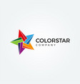 vibrant colorful star logo sign symbol icon vector image vector image