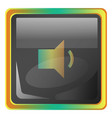 volume down grey icon with colorful details on vector image