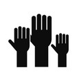 vote hands icon simple style vector image