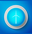 wind turbine icon isolated on blue background vector image vector image