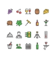 Wine making drink icon set