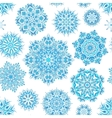 Winter seamless pattern with beautiful snowflakes vector image vector image