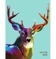 Deer polygonal eps 10 vector image