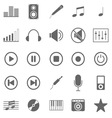 Music icons on white background vector image