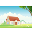 Spring house vector image
