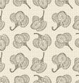 Seamless retro cotton background vector image