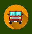 truck car on road in flat style trucking and vector image
