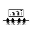 1332 team business sales meeting vector image