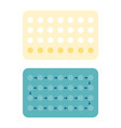 28 contraceptive pills vector image vector image