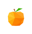 abstract origami peach vector image vector image