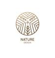 abstract sacred symbol nature logo vector image vector image