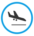 Aiplane Landing Circled Icon vector image vector image