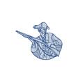 American Patriot Minuteman Rifle Mono Line vector image vector image