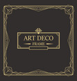 art deco border and frame vector image vector image