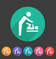 baby mother care room symbol icon flat web sign vector image