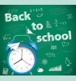 back to school green school background vector image vector image