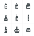 barbecue Hot chilli chili sauce bottle buttons vector image