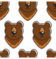 bear russian symbol seamless pattern forest animal vector image