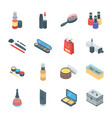 beauty products and cosmetics icons vector image