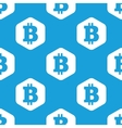 Bitcoin hexagon pattern vector image vector image