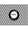 black border circles pattern seamless on white vector image