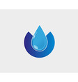 Blue Water drop icon abstract logo template vector image