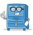 businessman mailbox character cartoon style vector image vector image