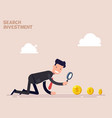 businessman or manager crawls on all fours in vector image vector image