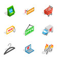 buy online icons isometric 3d style vector image vector image