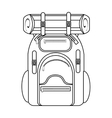 camping backpack graphic vector image vector image