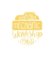Car Mechanic Yellow Vintage Stamp vector image vector image