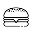 cheeseburger food icon design sign vector image