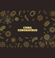 china coronavirus virus concept golden vector image vector image
