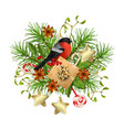 christmas festive decorations vector image vector image