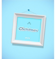 Christmas sign with picture frame vector image vector image